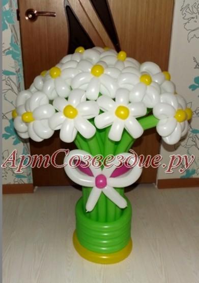 Цветы в вазе из шаров своими руками 14